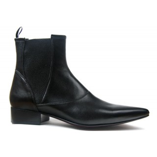 1960 Winkle.Picker : Bo - Black High Gusset Boot
