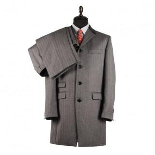 The Lennon Frock Coat Suit - Grey