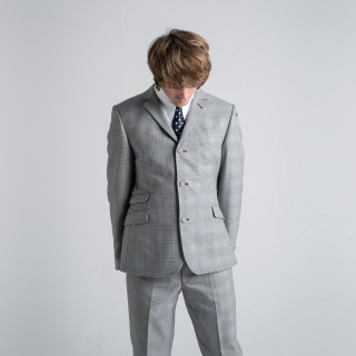 The Prince Of Wales Check Mod Trousers -  Grey
