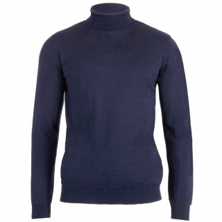 Geno Navy Turtleneck Sweater