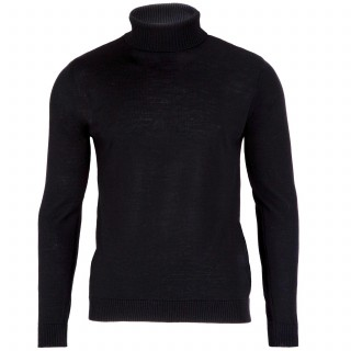 Geno Black Turtleneck Sweater