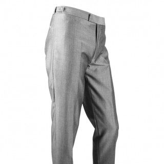 The Hard Days Night Trousers - Silver Grey Sheen Drainpipe