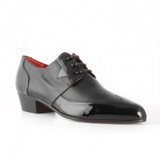 Archie Eyebrows : Luis Shoe - Black Patent and Black Box Calf