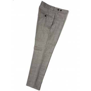 Sale : The Chesterfield Trousers - Silver Grey Drainpipe