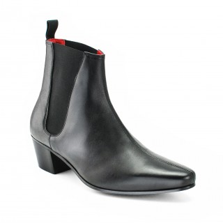 High Cavern Boot - Black Calf Leather