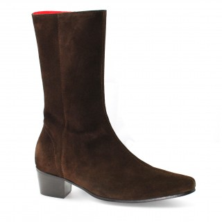 Discontinued Colour : High Lennon Boot - Chocolate Suede