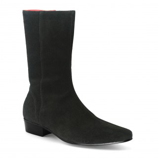 Beatwear Bargain : Low Lennon Boot in Black Suede