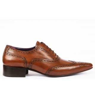1960 Winkle.Picker : Bruce - Tan Brogue Shoe