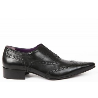 1960 Winkle.Picker : Bruce - Black Brogue Shoe