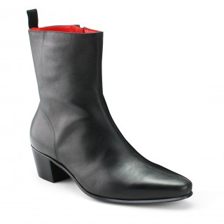 Zip Boot - Black Calf Leather