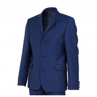 The London Mod Jacket - Vibrant Blue