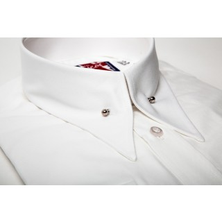 Sale : Long Pointed Collar With Pin Shirt