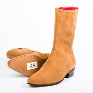 Clearance Lot 77 - Low Lennon Tan Suede Size 41