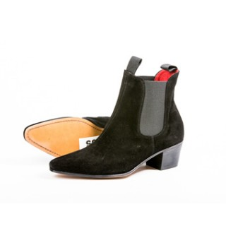 Clearance Lot 85 - Original Chelsea Boot Black Suede Size 41.5