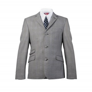 The Prince Of Wales Check Mod Suit - Grey
