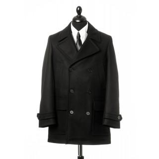 Sale : (Last One Size 40) The Paul Pea Coat - Black Italian Wool