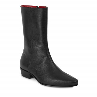 Low Lennon Boot - Black Grain Leather