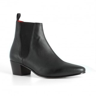High Cavern Boot - Black Grain Leather