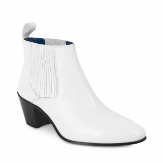 Discontinued Colour : Ringo Boot - White Calf Leather