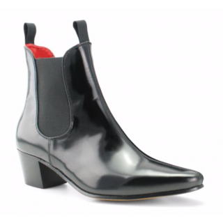 Beatwear Bargain : Original Chelsea Boot in Black Hi-Shine Leather
