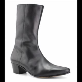 Stock shot of Beatwear High Lennon Boot Black Calf