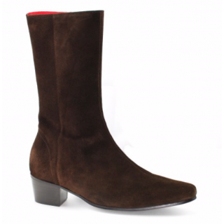 Beatwear Bargain : High Lennon Boot in Chocolate Suede