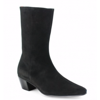 Beatwear Bargain : High Lennon Boot in Black Suede