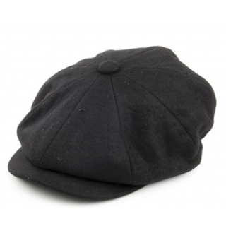 Black Bakerboy Hat - Large