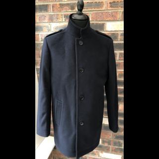 Sample Sale : Navy Wool Car Coat 40R
