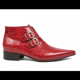 Last One -1960 Winkle Picker : Jonny Red Leather Boot Size 47