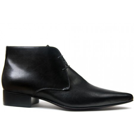 1960 Winkle.Picker : Jerry - Black Ankle Boot