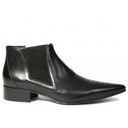 1960 Winkle.Picker : Carl - Black Ankle Boot
