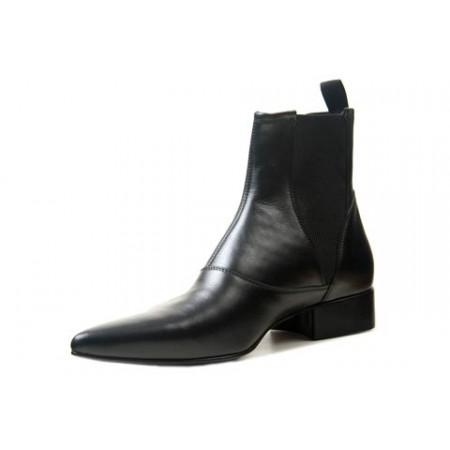 1960 Winkle.Picker : Bo - Black High Gusset Boot