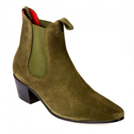 Sale : Original Chelsea Boot - Military Sage Green Suede