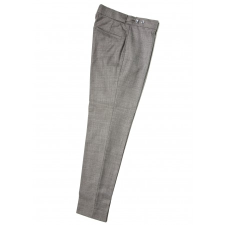 Collarless trousers - Silver Grey
