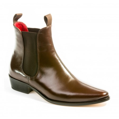 Sale : Classic Boot - Chestnut Brown Calf Leather