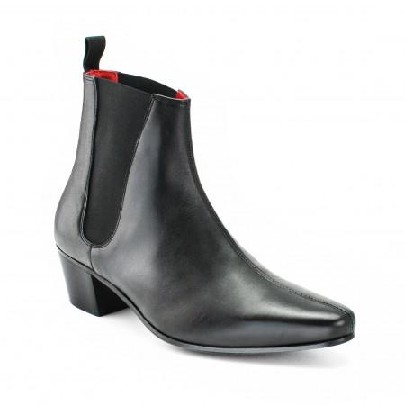 High Cavern Boot - Black Calf Leather