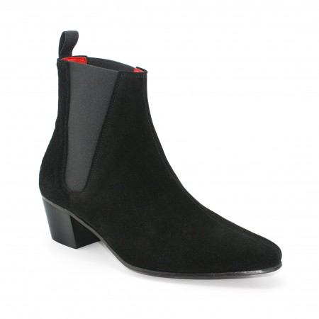 High Cavern Boot - Black Suede