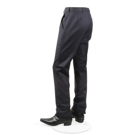 *Final Sale : The Lennon Mod Trousers -  Navy Blue Pinstripe Drainpipe