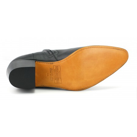 High Lennon Boot - Black Calf Leather