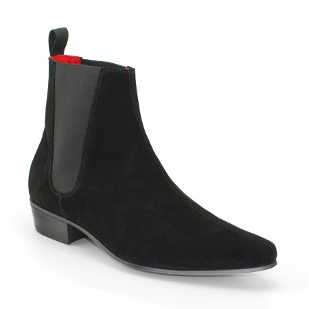 Low Cavern Boot  - Black Suede