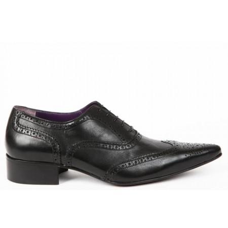 1960 Winkle.Picker : Bruce - Black Brogue Shoe