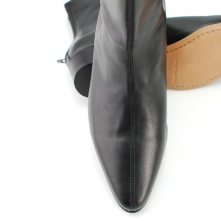 Sale : Back Zip Boot - Black Calf Leather-44 (UK 10 / US 10.5)