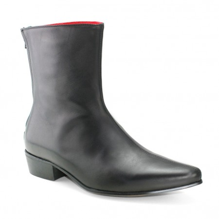 Sale : Back Zip Boot - Black Calf Leather-47 (UK 13 / US 13.5)