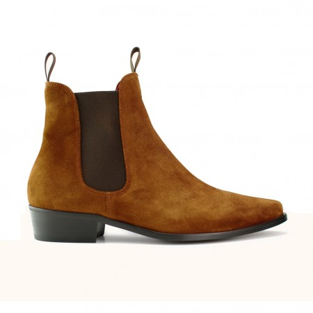 Sale : Classic Boot - Tan Italian Suede-40.5 (UK 6.5 / US 7)