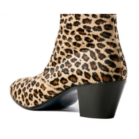 Sale : The DC5 Boot - Leopard Print Leather