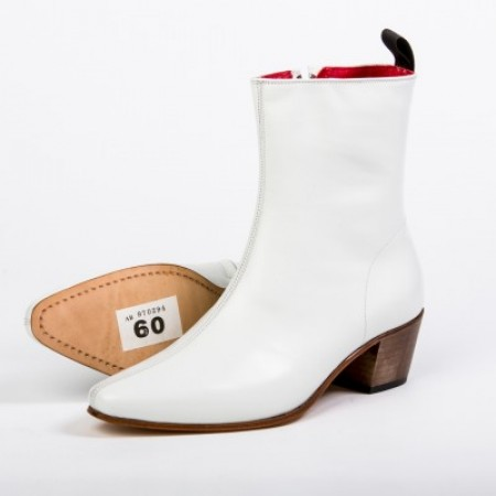 Clearance Lot 60 Zip Boot White Calf Size 41