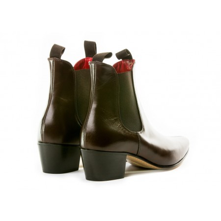 Sale : Original Chelsea Boot - Vintage Dark Brown Leather-45.5 (UK 11.5 / US 12)
