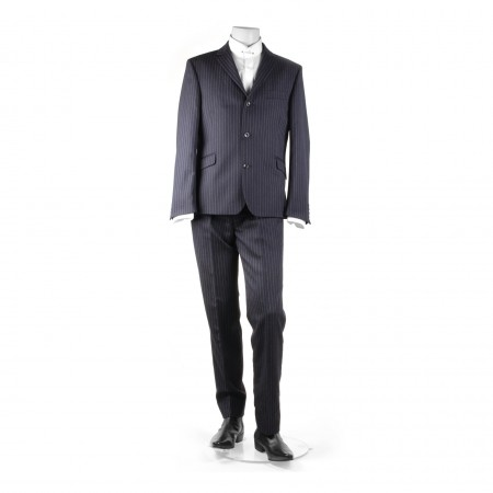 The Lennon Mod Suit - Navy Pinstripe