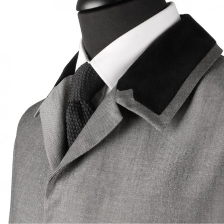 Hard Day's Night  Jacket - Silver Grey Mohair Sheen